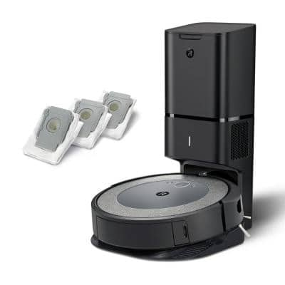 Roomba i3+ (3550) Wi-Fi Connected Robotic Vacuum Cleaner with (3-Pack) Clean Base Automatic Dirt Disposal Bags