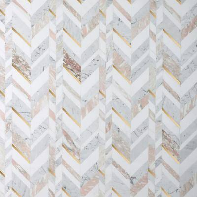 Tyra Rosa 11.81 in. x 18.89 in. Polished Marble Wall Mosaic Tile (1.55 sq. ft./Each)