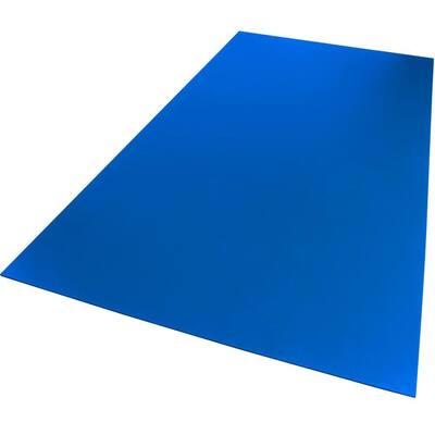 24 in. x 48 in. x 0.118 in. Foam PVC Blue Sheet