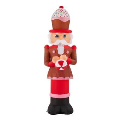 6.5 ft. Airblown Gingerbread Nutcracker Christmas Inflatable