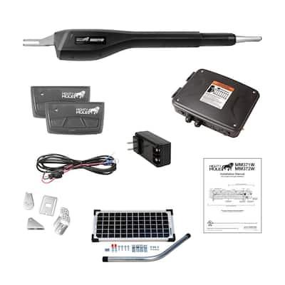 Medium Duty Single Swing Gate Opener Solar Panel Combo Kit Smart Capable