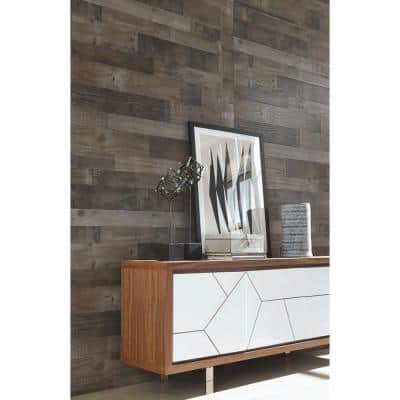 Weathered Grey Plank 32 sq. ft. MDF Paneling