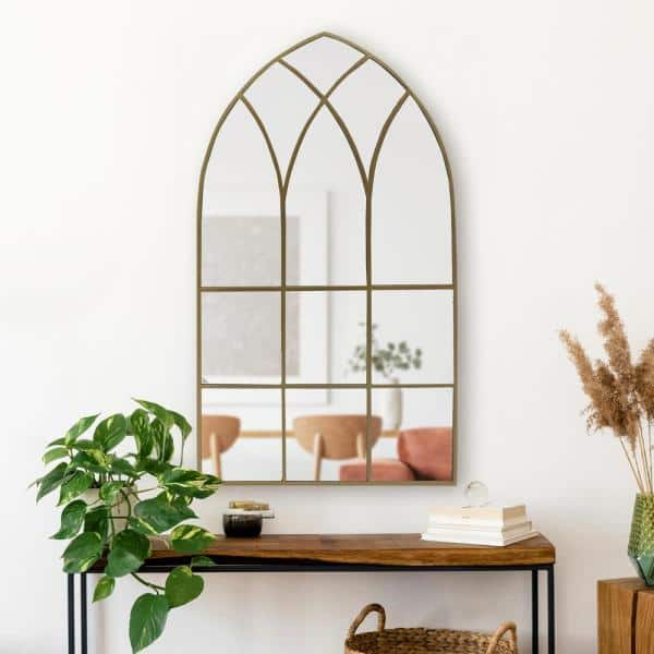 Home Decorators Collection Large Arched, Arched Window Pane Mirror Large