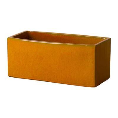24 in. x 11 in. Burnt Orange Ceramic Window Box