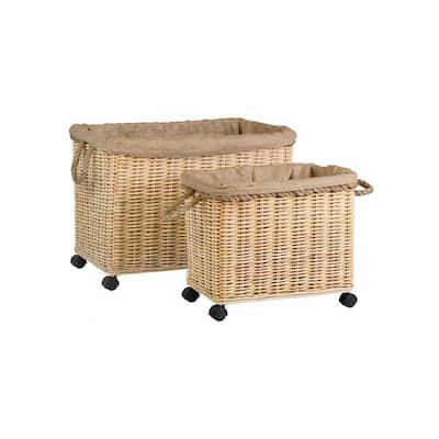 Jenn Medium Brown Rattan Basket