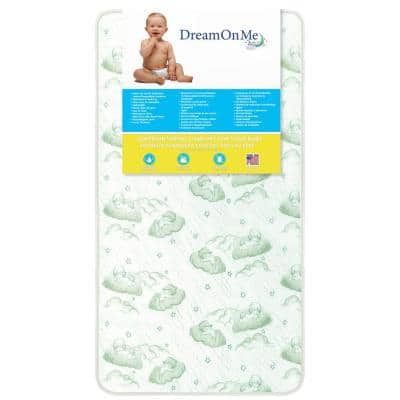 Nirvana 6 96 Coil Green Spring Crib and Toddler Bed Mattress