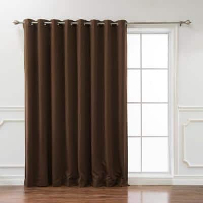 Chocolate Grommet Blackout Curtain - 100 in. W x 96 in. L