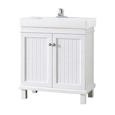 30 Inch Vanities Less Than 16 Bathroom Vanities Bath The Home Depot