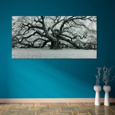 """""""Growth"""" Frameless Free Floating Tempered Art Glass by EAD Art Coop Wall Art"""