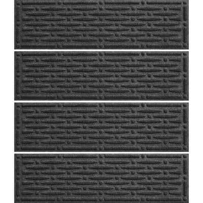 Mesh 8.5 in. x 30 in. Stair Treads (Set of 4) Charcoal