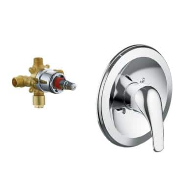 Middleton II Transitional 1-Handle Wall Mount Shower Trim Kit in Polished Chrome (Valve Included)
