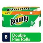 White Paper Towels (8 Double Plus Rolls)