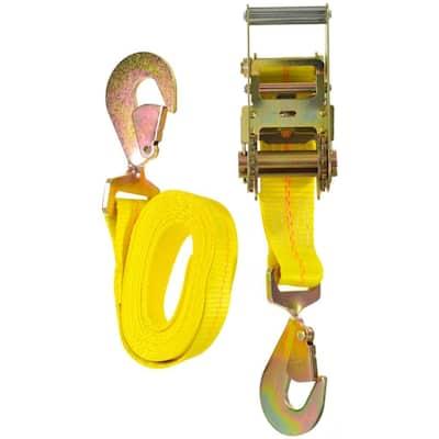 10 ft. 6000 lbs. Twist Snap Auto Tie-Down Ratchet