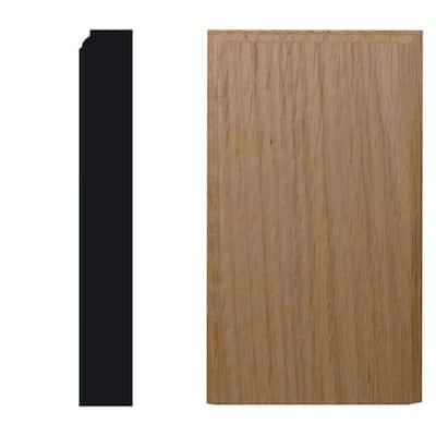 7/8 in. x 3-1/2 in. x 6 in. Red Oak Block Moulding