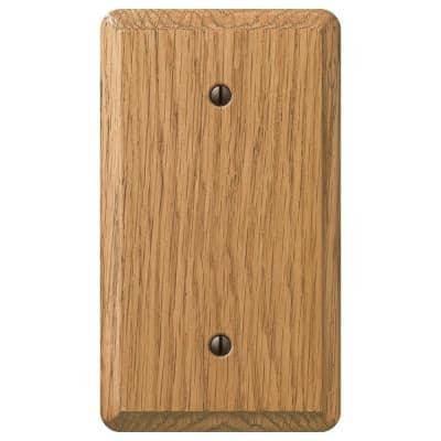 Contemporary 1 Gang Blank Wood Wall Plate - Light Oak