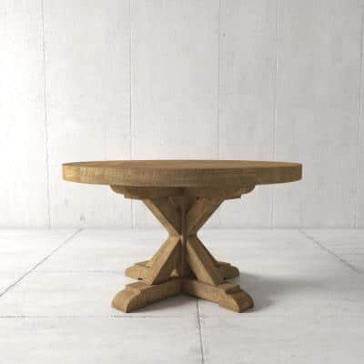 Reclaimed Wood Pedestal Kitchen, Round Reclaimed Dining Table