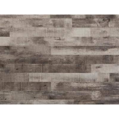 E-Z Wall 4 in. W x 3 ft. L Driftwood Peel and Press Vinyl Plank Wall Decor (20 sq. ft./Case)