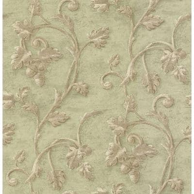 Scroll Print Paper Strippable Wallpaper (Covers 56.38 sq. ft.)