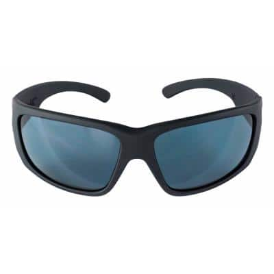 Safety Eyewear Polarized Glasses with Black Frame Anti Fog and Scratch Resistant Lens (Case of 4)