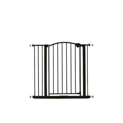 30 in. Arched Decor Safety Gate in Bronze