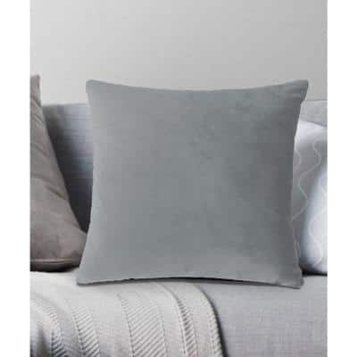 Venetian Velvet Decorative Pillow 18x18 Grey