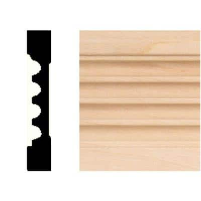 3/8 in. x 2-1/4 in. x 7 ft. Basswood Wood Fluted Casing Moulding