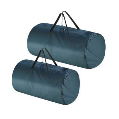 Premium Canvas Christmas Tree Storage Bags for Trees Up to 7.5 ft. Tall and 9 ft. Tall (2-Pack)