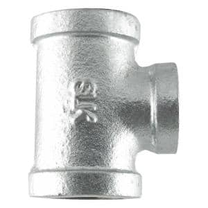 3/4 in. x 1/2 in. x 3/4 in. Galvanized Iron Reducing Tee