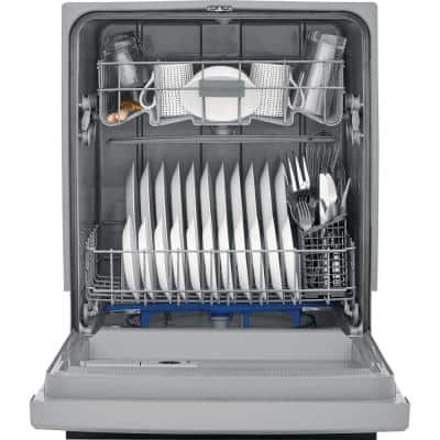 24 in. Stainless Steel Front Control Built-In Tall Tub Dishwasher, 55 dBA