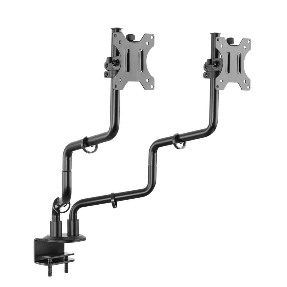 Proht 17 In 32 In Dual Full Motion Monitor Desk Mount 05297 The Home Depot