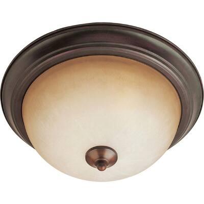 Essentials 2-Light Oil Rubbed Bronze Flush Mount