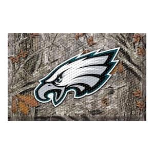 NFL - Philadelphia Eagles 19 in. x 30 in. Outdoor Camo Scraper Mat Door Mat