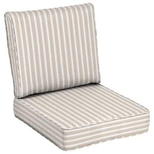 24 x 24 Sunbrella Shore Linen Outdoor Lounge Chair Cushion