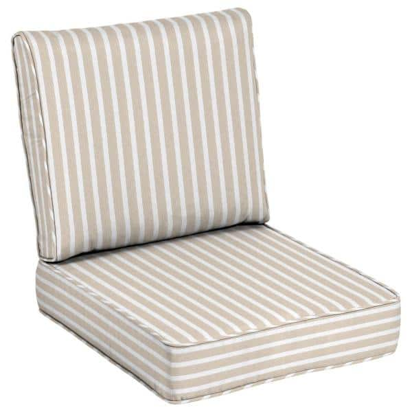 Linen Outdoor Lounge Chair Cushion, White Outdoor Lounge Chair Cushions