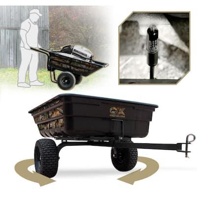 Realtree 12 cu. ft. - 14 cu. ft. Half-Ton Lift-Assist and Swivel Dump Cart with Run-Flat Tires