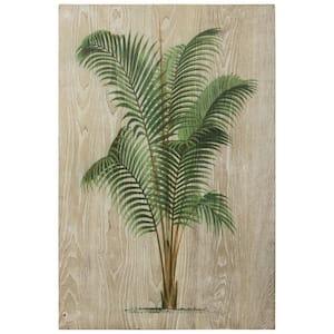 ''Coastal Palm II'' Fine Giclee Printed on Hand Finished Ash Wood Wall Art
