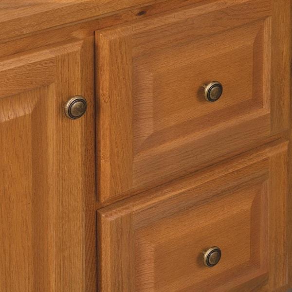 Glacier Bay Hampton 30 In W X 21 In D X 33 5 In H Bathroom Vanity Cabinet Only In Oak Hoa30dy The Home Depot