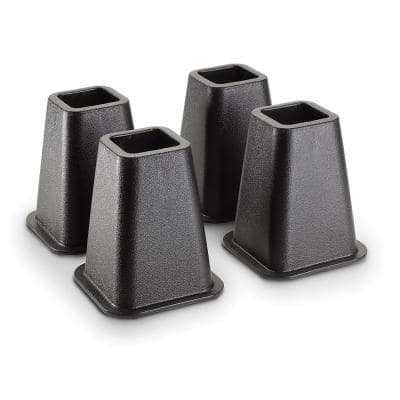 6 in. Black Bed Risers (4-Pack)