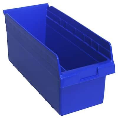 Store-Max 8 in. Shelf 5.2 Gal. Storage Tote in Blue (10-Pack)