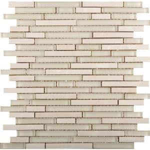 Lucente Campo Gloss/Matte Mix 12.05 in. x 12.05 in. x 8mm Glass Mesh-Mounted Mosaic Tile (1.07 sq. ft.)