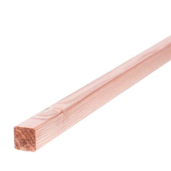 Mendocino Forest Products 2 In X 2 In X 10 Ft Construction Heart S4s Redwood Lumber 901792 The Home Depot