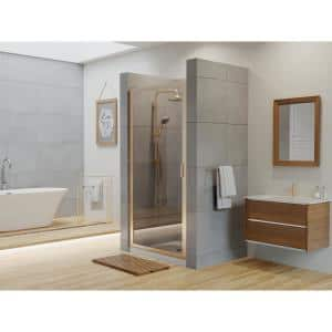 Coastal Shower Doors Paragon 23 In To 23 75 In X 66 In Framed Continuous Hinged Shower Door In Brushed Nickel With Clear Glass P23 66n C The Home Depot
