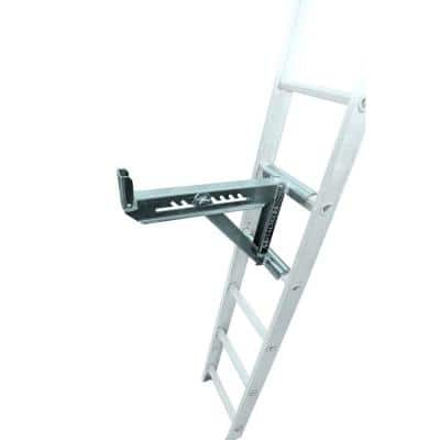 21.75 in. x 10 in. x 16.75 in. Aluminum Adjustable 2-Rung Ladder Jacks for Scaffold Extension Boards, Ladder, or Plank