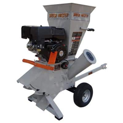 5.25 in. x 3.5 in. 420cc Self Feed Gas Chipper Shredder with 120V Electric Start, Trailer Hitch, Gloves, Goggles