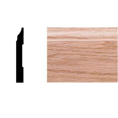 3/8 in. x 2-3/4 in. x 8 ft. Oak Colonial Base Moulding