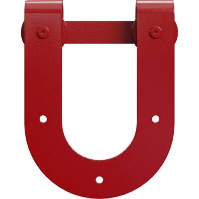1-1/2 in. x 8 in. x 10-3/4 in. Steel Premium Horseshoe Roller Hanger Moulding Regal Red