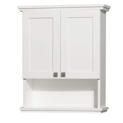 Acclaim 25 in. W x 30 in. H x 9-1/8 in. D Bathroom Storage Wall Cabinet in White