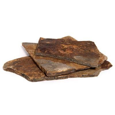 14 in. x 12 in. x 2 in. 60 sq. ft. Autumn Flame Natural Flagstone for Landscape, Gardens and Pathways