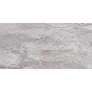 Pietra Bernini Carbone 12 in. x 24 in. Polished Porcelain Floor and Wall Tile (16 sq. ft. /Case)