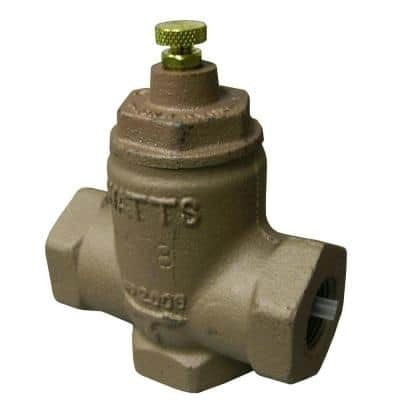 3/4 in. Cast-Brass FPT x FPT Hydronic 2-Way Flow Check Valve